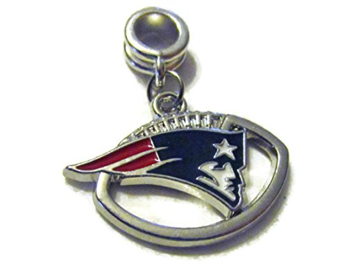 NEW ENGLAND PATRIOTS FOOTBALL OFFICIALLY LICENSED CHARM WITH CONNECTOR