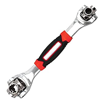 ZZ ZONEX 48 in 1 Multifunction Socket Tools Dog Bone Wrench Works with Spline Bolts, Torx, Square Damaged Bolts and Any Size Standard or Metric Universal Tool