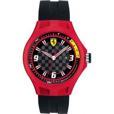 Scuderia Ferrari 0830006 Mens Pit Crew Black Rubber Watch