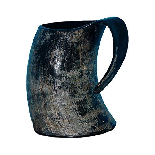 (Real Horn Viking Drinking Mug Cups Ale Beer Wine Goblet Tankard Mead Medieval Burlap Tumbler Ox Horn Beaker Vessels A Handmade from Handicrafts Home)
