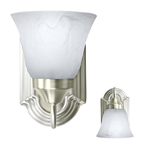 - Bennington Luna Wall Sconce Light Fixture Single Light Vanity Lights, Brushed Nickel