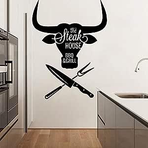 yaonuli Steak House Wall Painting Vinilo removible Vinilo para ...