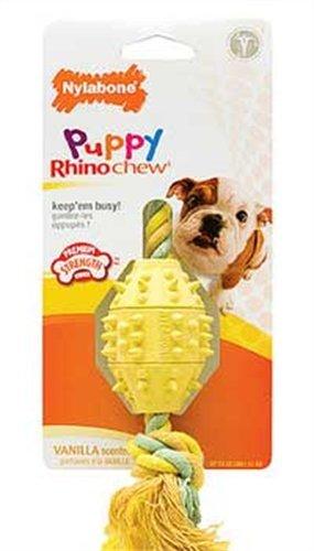Nylabone Rhino Puppy Teethe n' Tug Chew Toy, Regular, My Pet Supplies