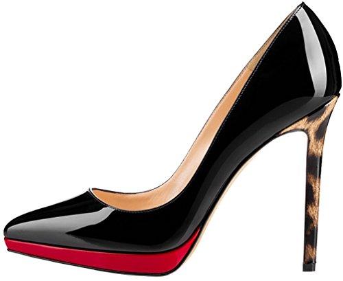 Calaier Damen Camessage 11CM Stiletto Schlüpfen Pumps Schuhe Mehrfarbig