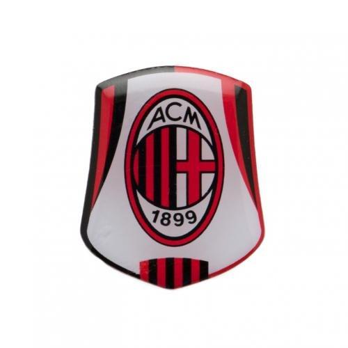 su un supporto di metal Badge A.C su licenza ufficiale Milan Badge circa 25 mm x 20 mm a perno fix finitura smaltata