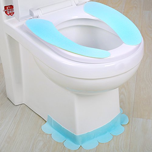 Wayer Toilet cushion,Luxury toilet seat cover 3 Pack set bathroom zipper super warm soft comfy -B by Wayer