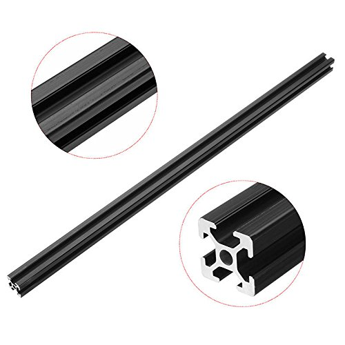 500mm Length Black Anodized 2020 T-Slot Aluminum Profiles Extrusion Frame For - Linear Motion Aluminum Profiles - 1 x 500mm black anodized 2020 aluminum profiles