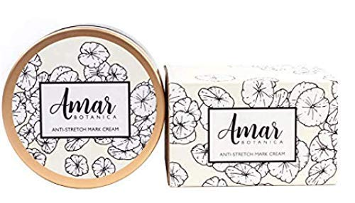 Amar Botanica Anti-Stretch Mark and Removal Cream | OBGYN Recommended & Safe for Pregnancy and Nursing | Doctor Formulated | Vegan, Paraben-Free, Organic Formulation