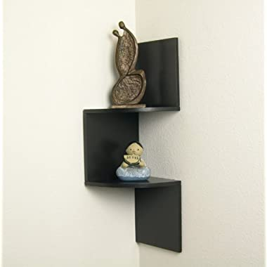 Danya B. Walnut Laminate Corner Shelf
