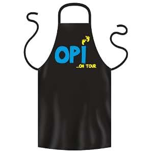La barbacoa delantal/delantal para Europa OPI on tour–Regalo de cumpleaños Barbacoa pechera de
