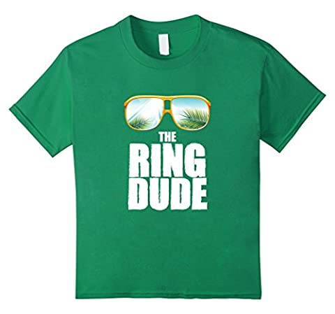 unisex-child Cute Boy's The Ring Dude Bearer T-Shirt Wedding Party Gift 4 Kelly Green