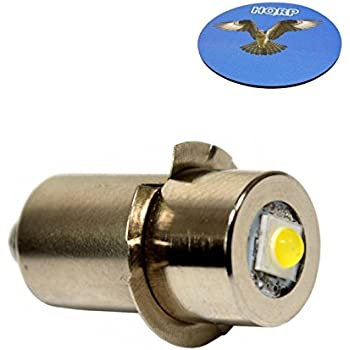 Hqrp High Power Upgrade Bulb 3w Led 100lm 7 30v For Dewalt