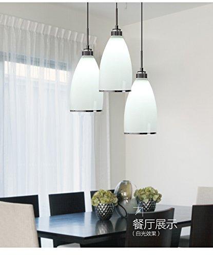 3 cabezas lámparas modernas luces colgantes comedor lámpara de ...