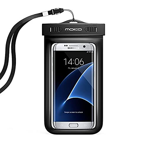 Universal Waterproof Phone Case, MoKo Multifunction CellPhone Dry Bag Pouch with Armband & Neck Strap for iPhone X/8 Plus/8/7/6S Plus, Galaxy Note 8, S8/S8+, BLU, MOTO - (Lg G3 Phone Casing)