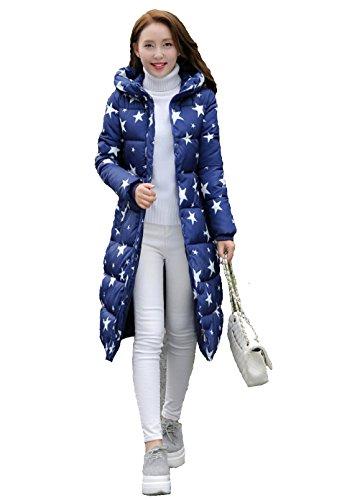 Femme Cintré 2016 Coton Veste Mode Taille Rembourré Adeline Manteau Montagne Doudoune Capuche L Bleu xqwY8vnt