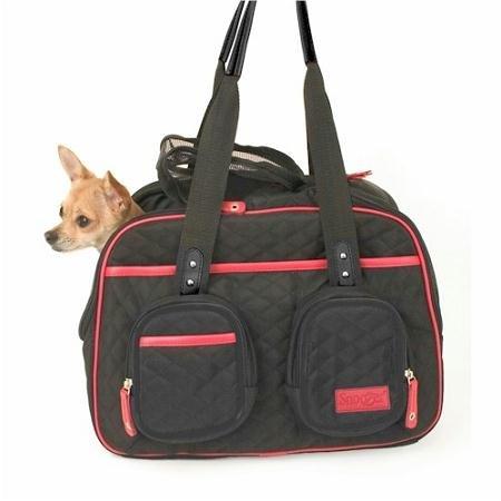 Snoozer Deluxe Pet Tote Bag, Black, My Pet Supplies