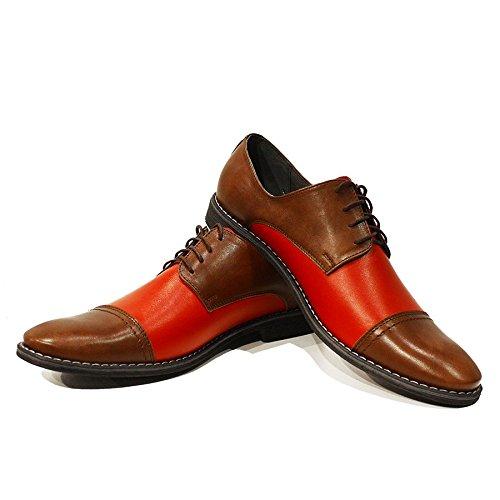 Modello Chaussures Cuir Vachette Cuir Rouge Cuir Handmade Souple Oxfords Lacer Elia des de pour Italiennes Hommes wrpRw