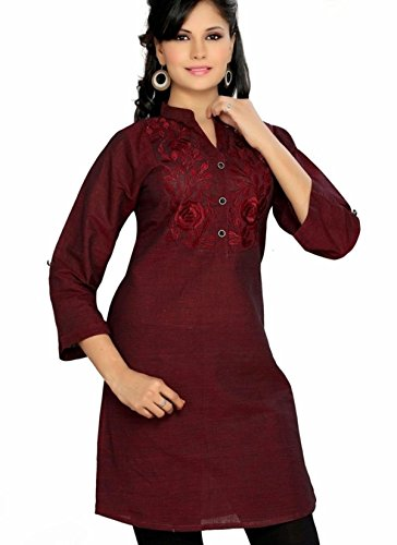 Jayayamala Attractive Tunic Dress Made From Fine Cotton with Long Sleeve