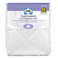 Sealy Cool Comfort Fitted Infant/Toddler Crib Mattress Pad - Moisture Wicking...