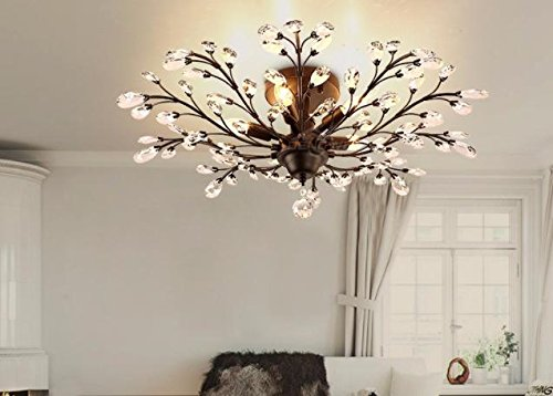 K9 Crystal Ceiling Lights Retro Crystal Lamp Vintage Light For Coffee Bar Restaurant Lighting luminaria teto pendente