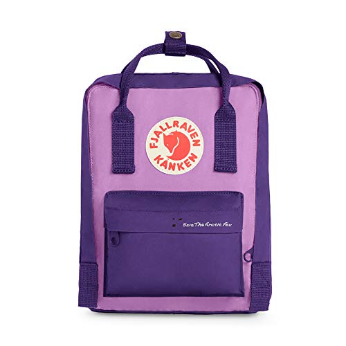 Fjallraven - Save the Arctic Fox Mini Kanken Backpack for Everyday, Purple/Orchid