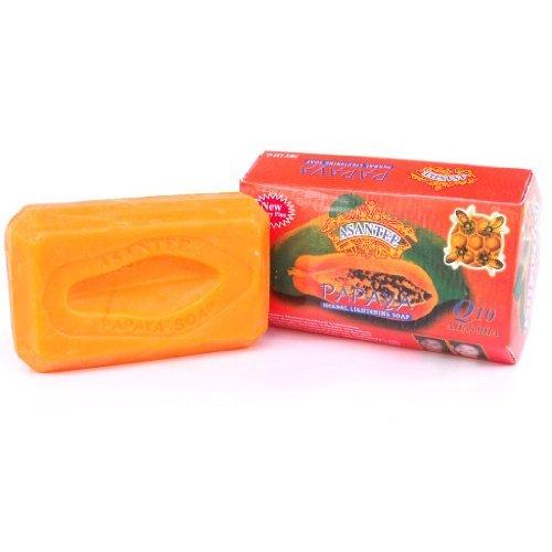 Asantee Thai Papaya Herbal Skin Whitening Soap 135g (Lightening Facial Soap)