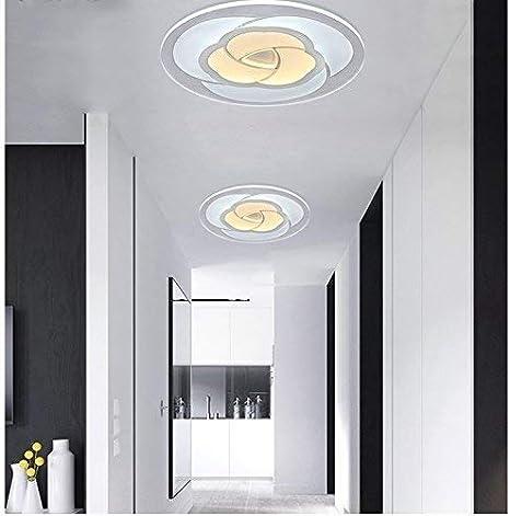 Chuen Lung Luz de Techo LED Ultrafina, diseño Creativo en Rosa Iluminación de Montaje enrasado Lámpara de Techo Redonda para baño, Cocina, Comedor, Dormitorio, Sala de Estar, Pasillo, Pasillo, balcón: Amazon.es: Hogar