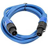 Seismic Audio - TW12S10Blue - 12 Gauge 10 Foot Blue Speakon to Speakon Professional Speaker Cable - 12AWG 2 Conductor Speaker Cable