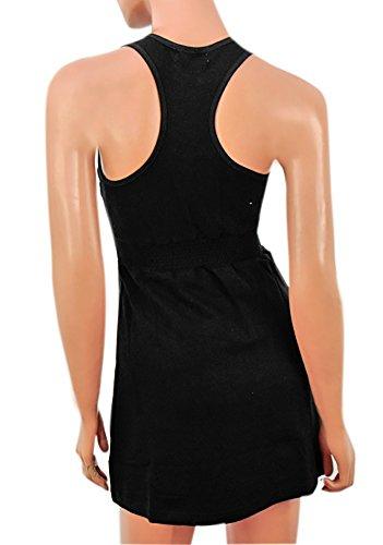 Brave Soul Damen Größe M, schwarz Military Kleid