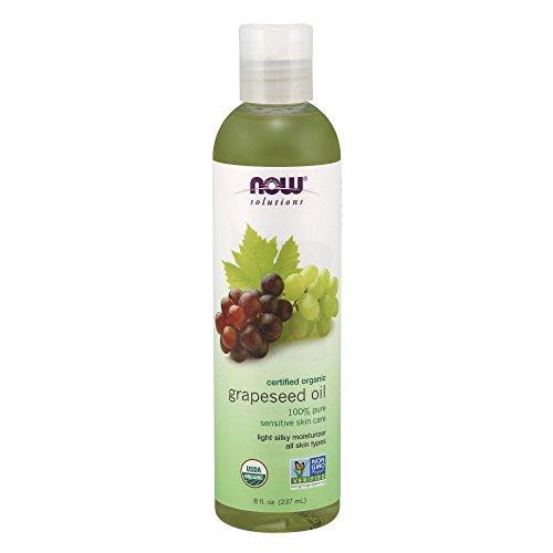 Now Solutions, Organic Grapeseed Oil, Skin Care for Sensitive Skin, Light Silky Moisturizer for All Skin Types, 8 oz