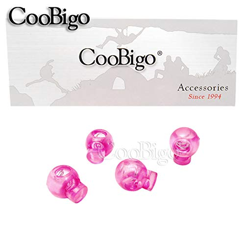 2a658842ef46 50 PCS Pink Cord Lock Ball Stopper Toggle Clip Transparent Clear Frost Shoe  Lace Sportswear Bag Parts #FLS002-TS (Pink)
