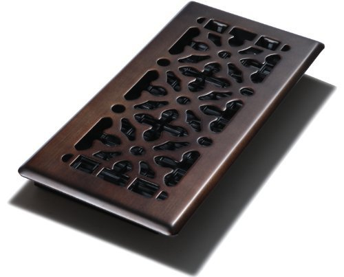 Decor Grates AGH410-RB 4-Inch by 10-Inch Gothic Bronze Steel Floor Register by Decor Grates (Import)