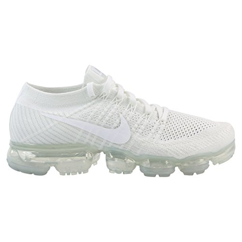 NIKE Men's Air Vapormax Flyknit, White/White-SAIL-Light Bone, 10.5 M US