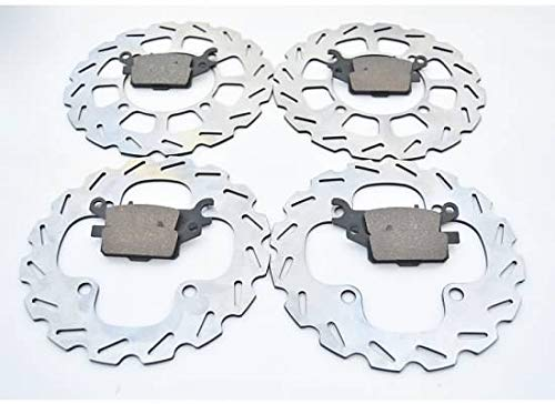 2009-2011 Yamaha 550 Grizzly YFM550 Front /& Rear Brake Pads /& Sport Brake Rotors
