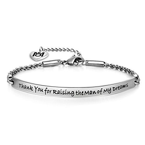 MYOSPARK Thank you for raising the man of my dreams Bracelet Mother of the Bride Gift (Bracelet)