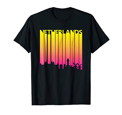 Vintage Retro Netherlands Skyline T-Shirt
