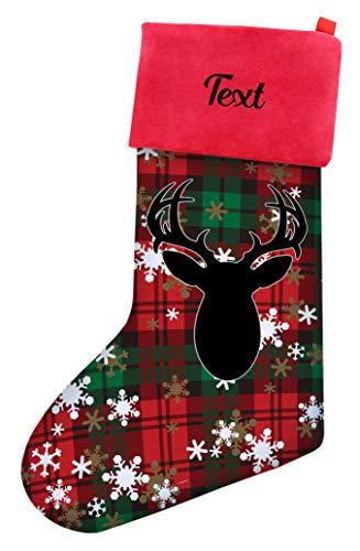- Hunter Christmas Stocking Your Text Buck Head Hunting Gifts Personalized Christmas Stocking Multi