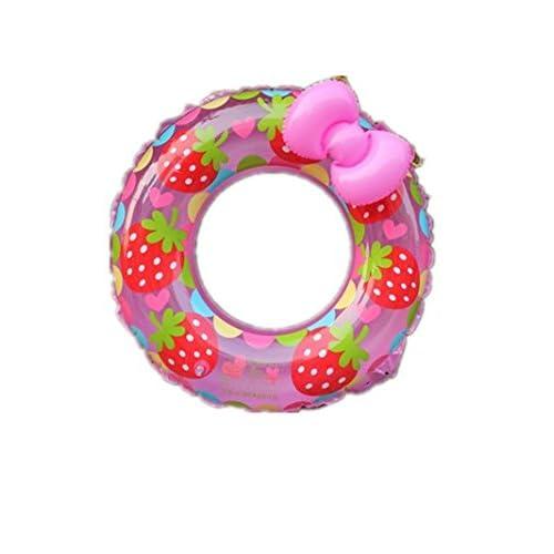 Bague de natation pour enfants, anneau de bain arc Fraise anneau de natation PVC gonflable bébé anneau de natation épaissie