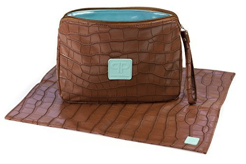Posh Play Luxury Diaper Clutch and Changing Pad Set - ()