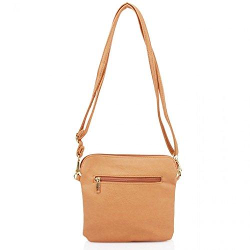 W22cm D3cm Cross Women's Bags Nice Brown Small Leather Leahward Body Faux Tassel Handbags H20cm X wOaUq6fx