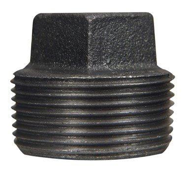 "Southland 521-806HN Square Head Plugs, 1-1/4"", Black"