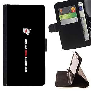 Sony Xperia Z4v / Sony Xperia Z4 / E6508 - Dibujo PU billetera de cuero Funda Case Caso de la piel de la bolsa protectora Para (Six Month Holiday - Funny)