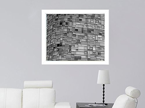 Black and White Architecture Photography, Modern Architecture Print, New York Glass Building and Windows, Abstract Wall Art, Minimal Art, Grey Wall Decor, Gift for Him