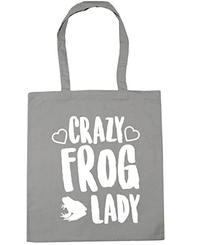 Bag litres Gym Light lady Grey x38cm Shopping HippoWarehouse 10 Beach frog Crazy Tote 42cm gpP66Sq