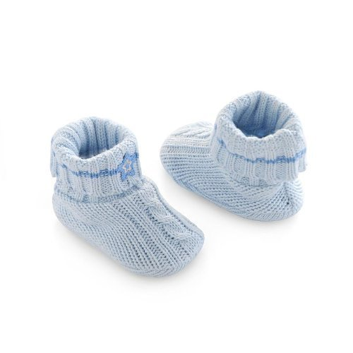 Extrem Amazon.com: First Moments Cable Knit Baby Booties (Blue): Infant TU51