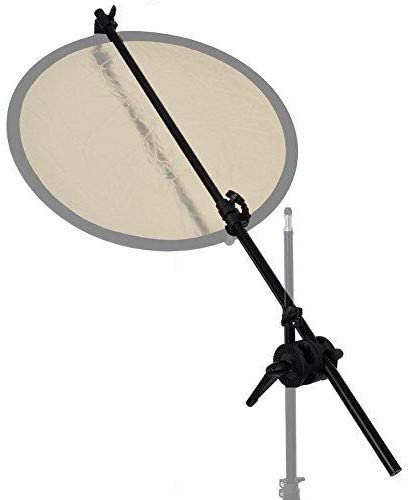Double Clamp Reflector Panel Backdrop Boom Arm Holder with Grip Swivel