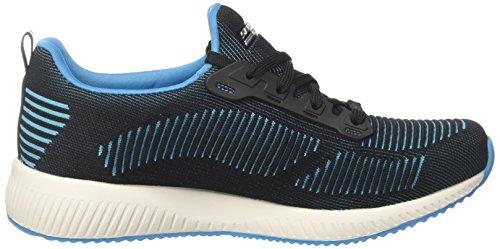Squad Zapatillas Bobs Skechers turquoise Para Mujer black Negro Sin twinning Cordones 61T5q