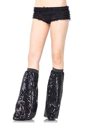 Leg Avenue Sequin Leg Warmers, One Size, Black