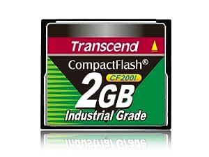 Transcend TS2GCF200I - Memoria Compact Flash de 2 GB, negro