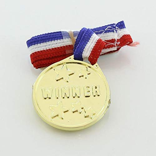72 Pieces Gold Medals - Award Medals - Winner Medals - Winner Award Ribbons Necklaces for Kids - Velcro Closure Neck Ribbons - For Kids - Bulk Wholesale lot by Prim